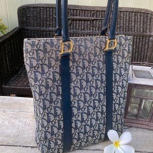 Authentic Dior Trotter Blue Tote Bag Vintage Rare!